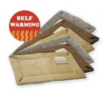 Self warming heated dog crate pad